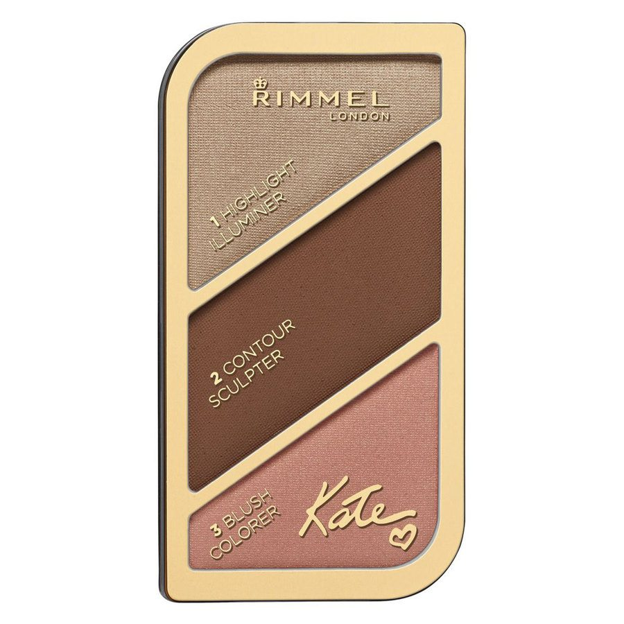 Rimmel London Kate Sculpting & Highlighting Palette 18,5 g – 003 Golden Bronze