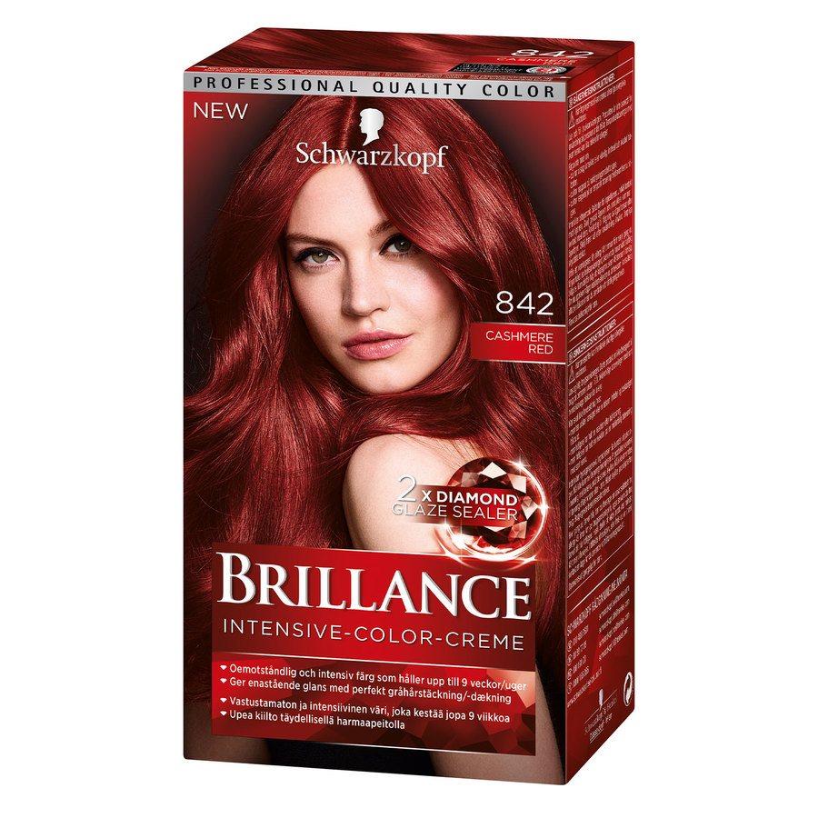 Schwarzkopf Brillance Intensive Color Creme ─ 842 Cashmere Red