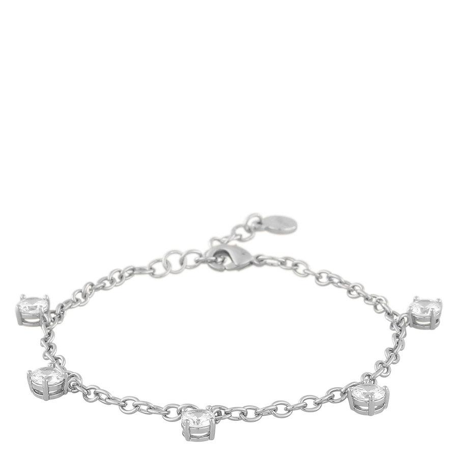 Snö Of Sweden Luire Stone Charm Bracelet ─ Silver/Clear