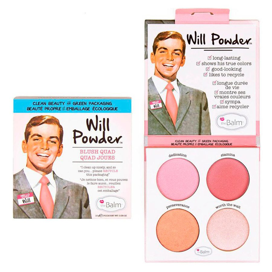 theBalm Will Powder Blush Quad 10 g
