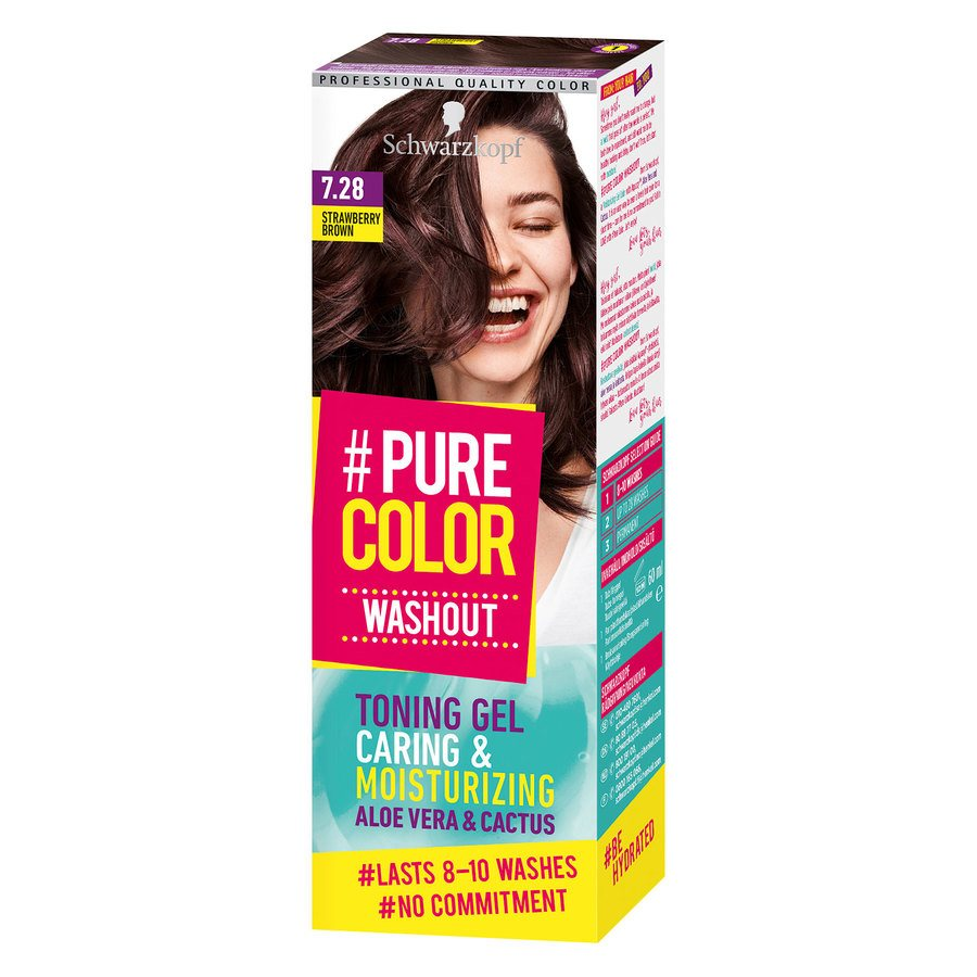 Schwarzkopf Pure Color Washout 60 g ─ 7.28 Strawberry Brown