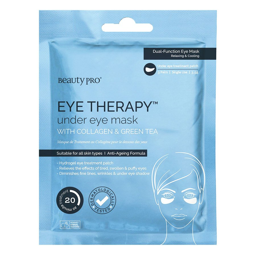 BeautyPro Eye Therapy Collagen Under Eye Mask With Green Tea Extract