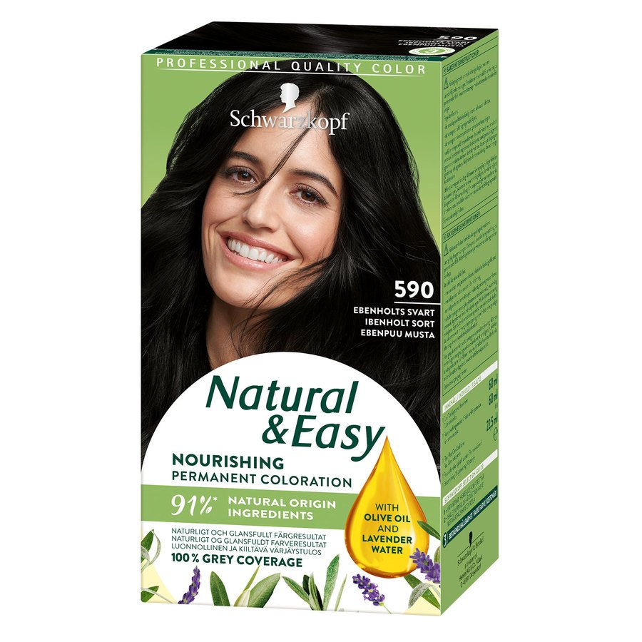 Schwarzkopf Natural & Easy ─ 590 Ebony Black