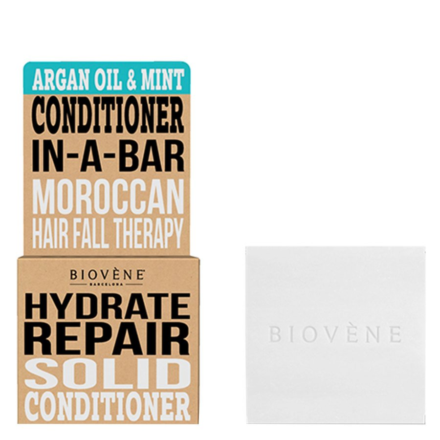 Biovène Hair Care Conditioner Bar Hydrate Repair Argan Oil & Mint 40 g