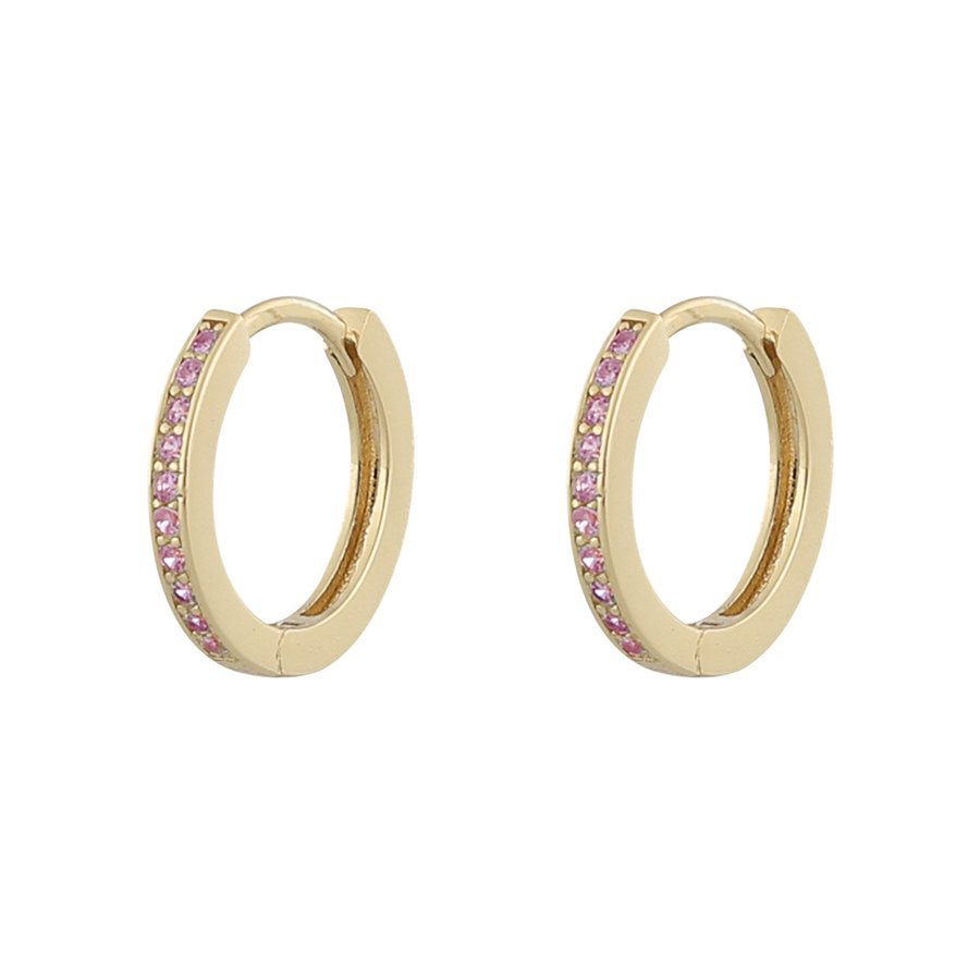 Snö Of Sweden Camille Ring Earring ─ Gold/Pink