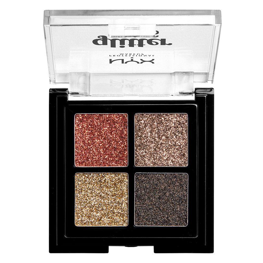 NYX Professional Makeup Glitter Goals Cream Quad Palette – Galactica
