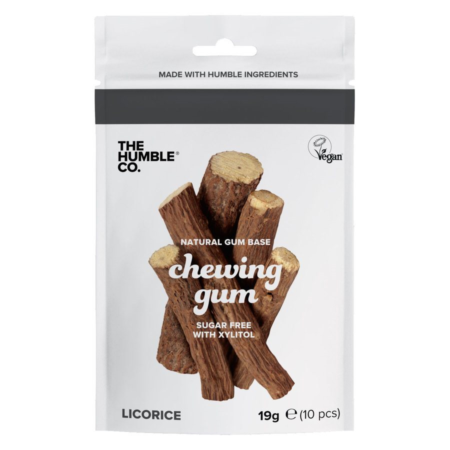 The Humble Co Humble Natural Chewing Gum 10 kpl – Salty Licorice