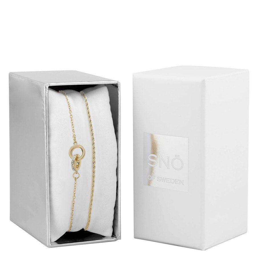 SNÖ of Sweden Crystal Royal Bracelet Set - Gold/Clear