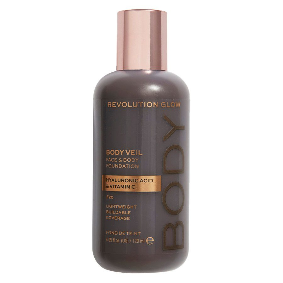 Revolution Beauty Makeup Revolution Revolution Glow Body Veil Foundation 120 ml – F20