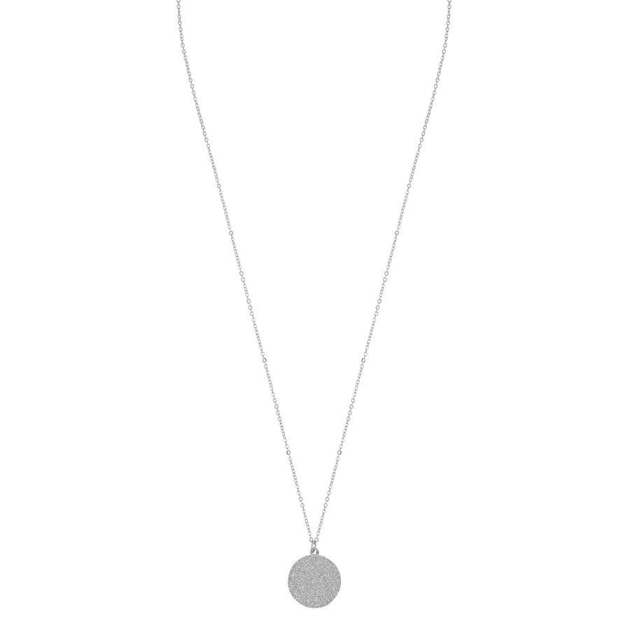 Snö of Sweden Penny Coin Pendant Necklace 60 cm – Plain Silver