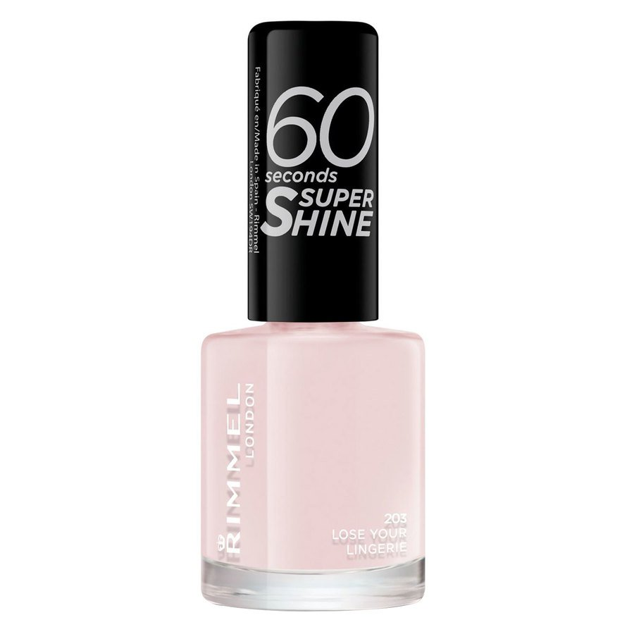 Rimmel London  60 Seconds Super Shine Nail Polish 8 ml ─ #203 Lose Your Lingerie