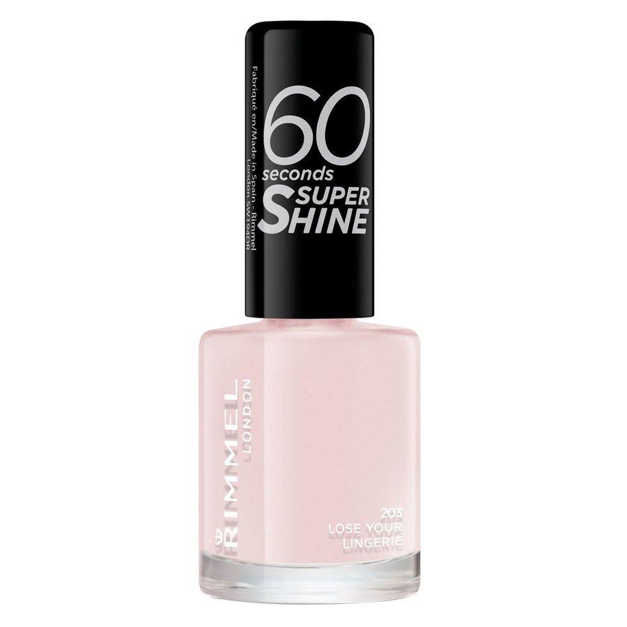 Rimmel London  60 Seconds Super Shine Nail Polish 8 ml ─ #203 Lose Your Lingerie